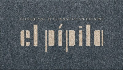 Mark Fox and Angie Wang / Design is Play, business card  for El Pípila, 2018.
