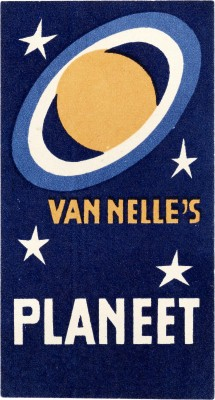 Jacob Jongert, Van Nelle's Planeet coffee label, Rotterdam, ca. 1930.