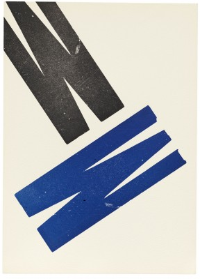 Untitled print, The Rebel Albert Camus portfolio, Jack Stauffacher, 1969. Collection of Letterform Archive.