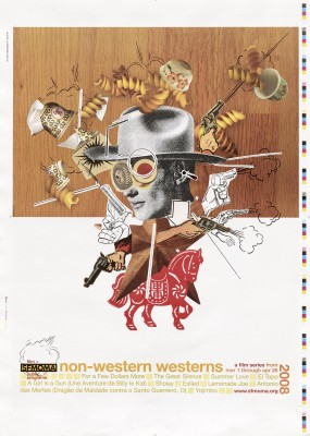 Martin Venezky / Appetite Engineers, SFMoMa Film Series: Non-Western Westerns, 2008.