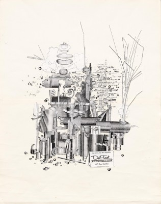 Martin Venezky / Appetite Engineers, Process collage for Del-Teet Furniture Company, date unknown.