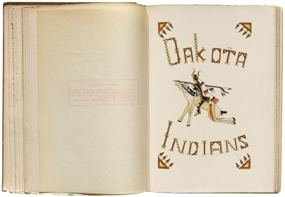 Dakota Lettering for The Indians' Book, 1907. Collection of LfA.