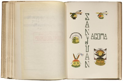 San Juan and Acoma Lettering for The Indians' Book, 1907. Collection of LfA.
