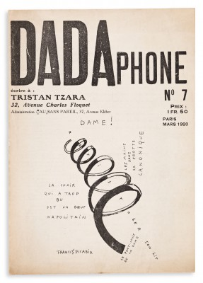 Dadaphone, No. 7, Paris 1920. Edited and published by Tristan Tzara.