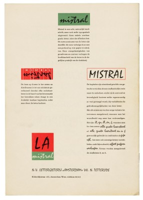 Mistral, Amsterdam Type Foundry, ca. 1956