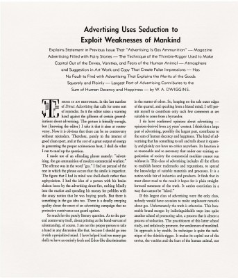 """Advertising Uses Seduction…"""