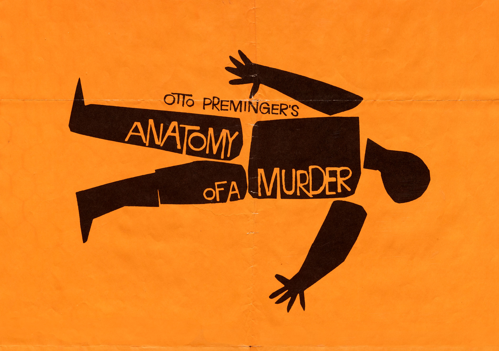 Saul Bass, Anatomy of a Murder, 1959.