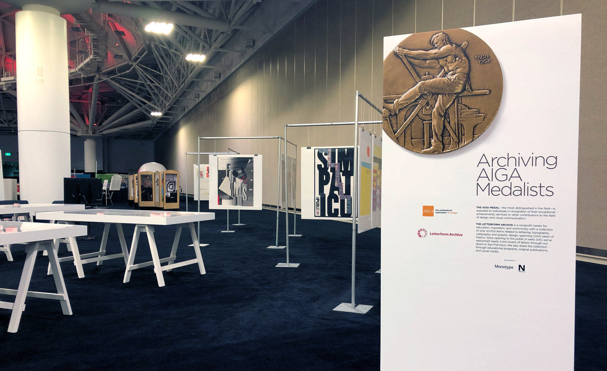 Archiving AIGA Medalists exhibit