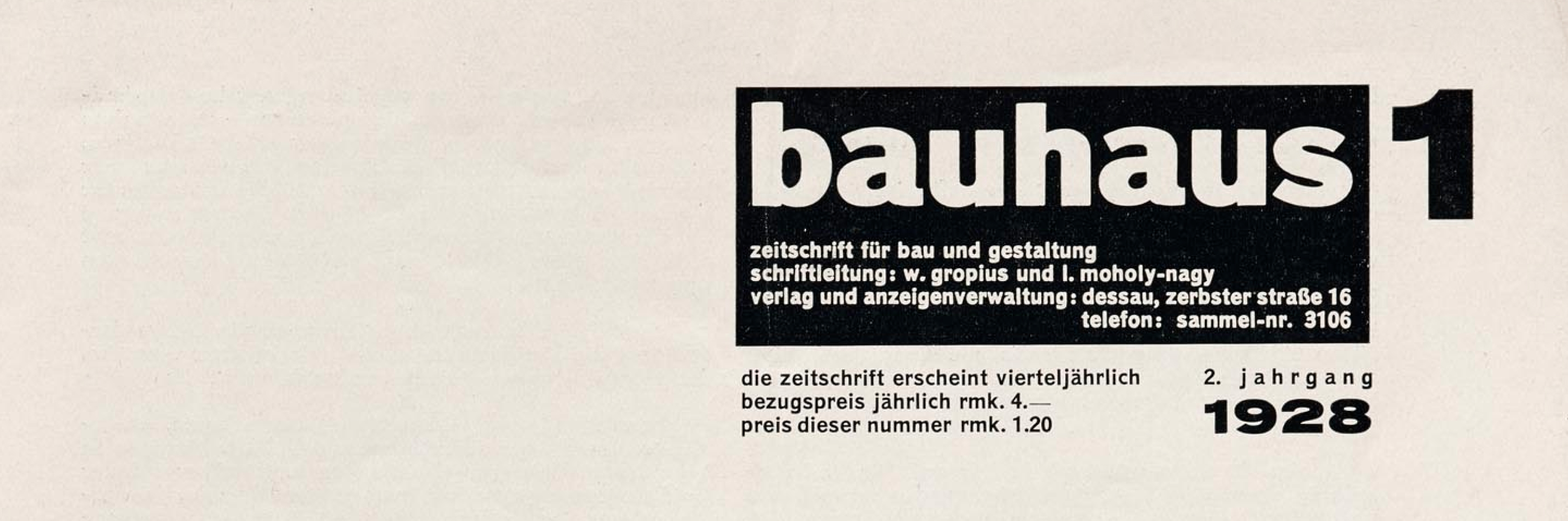 Periodicals As Collections No 2 Bauhaus Letterform Archive