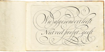 George Bickham, Penmanship in its Utmost Beauty and Extent, 1731