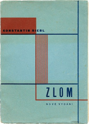 Karel Teige, Book Cover for Konstantin Biebl, 1928