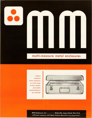 Ladislav Sutnar, MM Multi-Measure Metal Enclosures, 1944