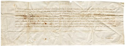 Letter from Pope Leo X