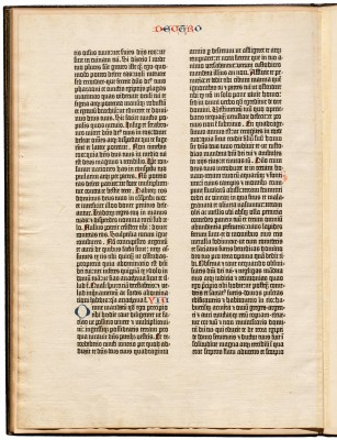 leaf from the Gutenberg Bible