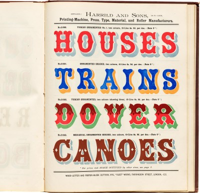 Harrild and Sons, Wood Type Specimen 2