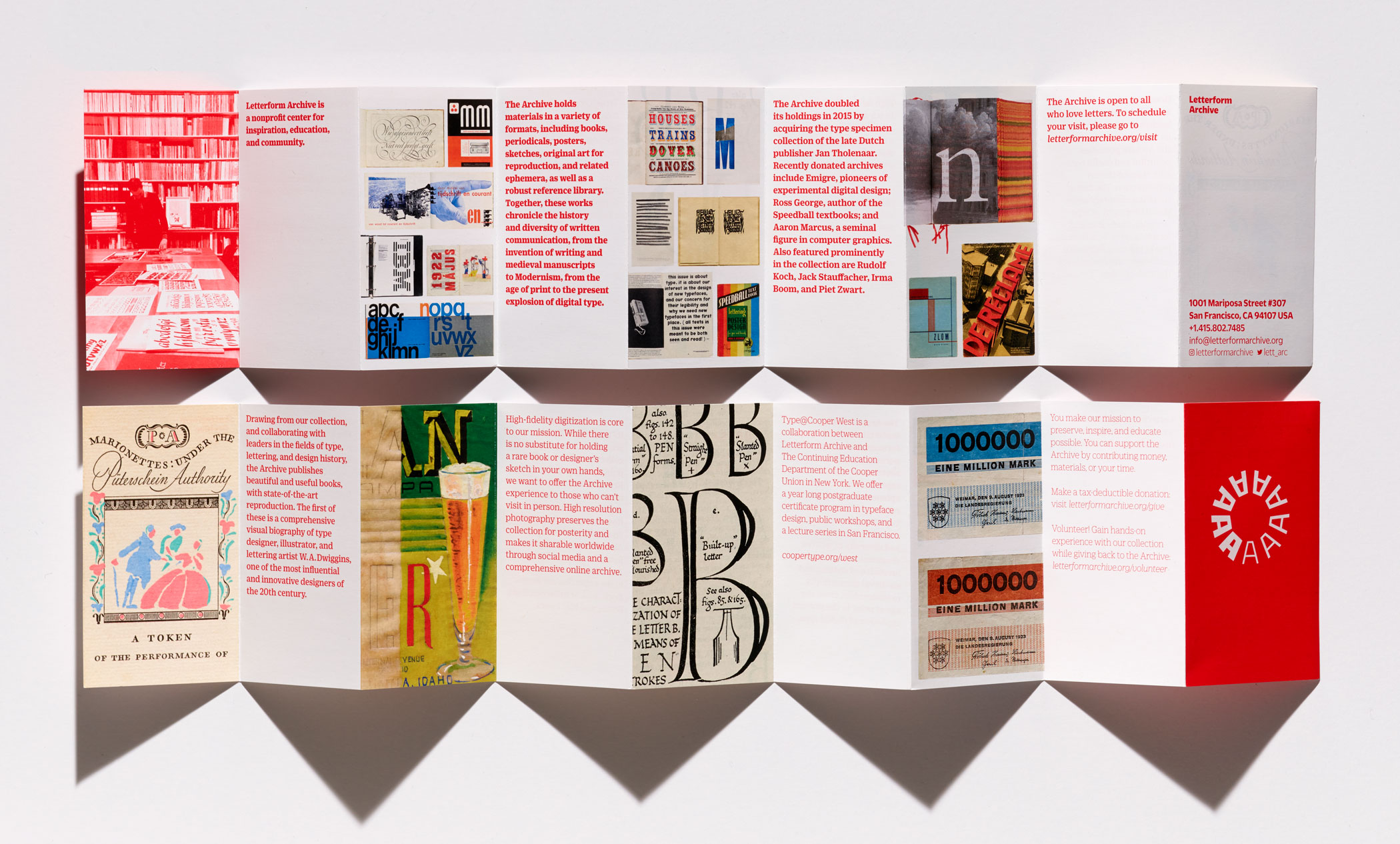 Letterform Archive brochure